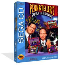 Penn & Teller's Sega CD Replacement Spare Game Case + Box Art Work Cover No Game