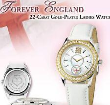England football Wrist Ladies Crystal 3 lions Watch New