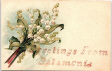 Postcard IN Greetings From Salamonia Lily Of The Valley Q3