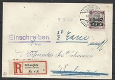 German China 1912 R-cover SHANGHAI redirected to EXIN