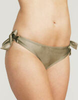 Figleaves Fortune Tie Side Bikini Brief Khaki Green Various Sizes 117513 New