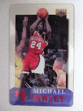 1 $ CARTE de Téléphone Phone-Card USA Basketball League joueur player Michael Finley
