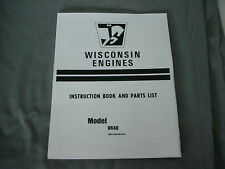 WISCONSIN   ENGINE VR4D INSTRUCTION, REPAIR & PARTS MANUAL BRAND NEW
