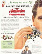 1952 sunbeam Shavemaster Electric Shaver Transparent view  PRINT AD