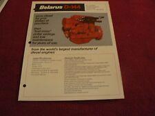 Belarus D-144 Engine Dealer's Brochure