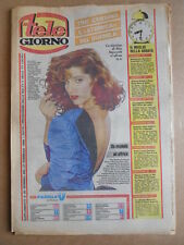 TELE GIORNO 21-02-1985 Tini Cansino  copertina Clipping  [G591]