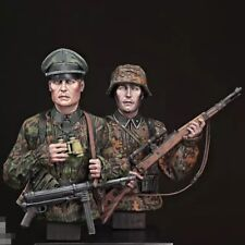 1/12 BUST Resin Figure Model Kit German Soldiers Waffen-SS Patrol WWII Unpainted