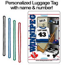 Personalized Winnipeg Hockey Luggage Tag
