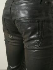 60% DIESEL BLACK GOLD Leather Look Jeans W32 L32 slim fit, waxed/coated