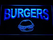 m082-b Burgers Cafe Neon Light Sign