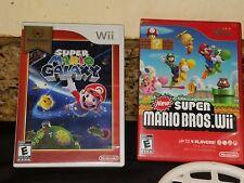 Super Mario Galaxy, mario bros.Nintendo Wii Complete Game with Manual
