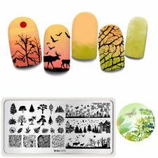 Harunouta Rectangle Nail Stamping Plate Natural Nail Art Image Template L072