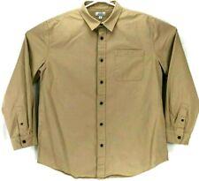 Mens Croft & Barrow Button Down Long Sleeve Grey Dress Shirt 100% Cotton Sz XL
