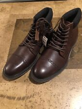 New! Men'S Express Leather Casual Dress Cap Toe Oxford Brown Boots Size 10 $148