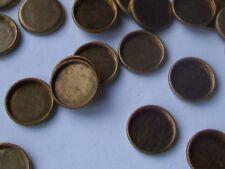 60 pcs. Round- Small Raw  Brass  Setting Shape - 9mm