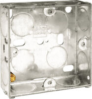 10x BG Single Metal 1 Gang Back Box for Wall Sockets and Light Switches - 25mm