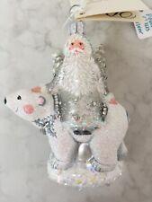 Patricia Breen Ornament 2015 Nwt Polar Claus Pearl/Silver Exclusive Catz #3546