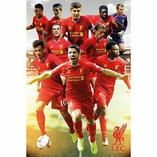"Liverpool FC soccer poster 24x36""  team collage with Luis Suarez"