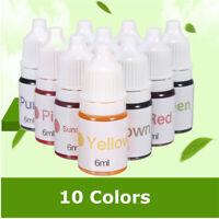 10 Colors Dyes Soap Making Coloring Set Liquid Kit Colorants for DIY Bath