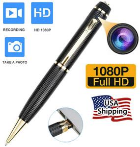 Mini Hidden Spy Camera Pen HD 1080P Video Recorder Clip On Body Portable Cam New