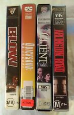 VHS Lot of 4 Large Case Titles: Blow, Quicksand: No Escape, The Client ++