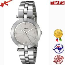 Timex Women's TW2P79100AB City Collection Analog Display Quartz Silver Watch