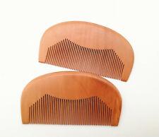 20-100pcs/lot No Logo Wood Beard Fine Tooth Beard Care Combs Wooden Comb Gift