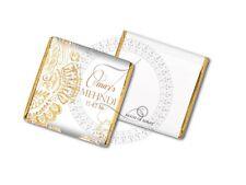 50 Personalised Gold Boys Indian Asian Wedding Celebration Favour Chocolates