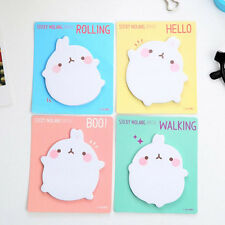 2x Cute Rabbit Sticky Notes Sticker Bookmarker Memo Pad Home Office Classcja