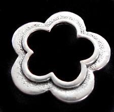 SCRAPBOOK Silver flower Pendant Antique Style Charm Bronze Brass Vintage BEAD
