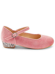 John Lewis & Partners Children's Polly Glitter Heel Shoes / Pink Size A5 Eur 38