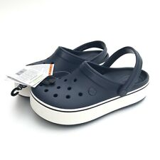 Crocs Crocband Platform Clog Unisex Navy Blue/White 205434-462 Sz M8/W10 NWT