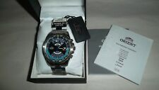 "ORIENT 50th Anniv. Multi Year Calendar Automatic Mens Watch ""The Blue"" Very Rare"