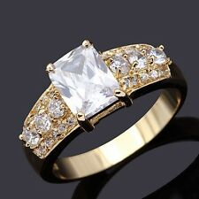 Woman's Cute Size 8 Jewelry White Sapphire 10K Gold Filled Rare Anniversary Ring