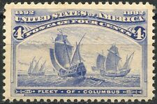 UNITED STATES 4c COLUMBIAN SCOTT#233  XF NEVER HINGED--SCOTT VALUE $160.00