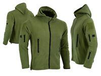 Tactical Recon Zip Up Fleece Jacket Army Hoodie Security Police Hoody Combat uk