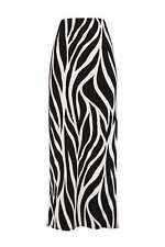 Black Animal Print Maxi Skirt S