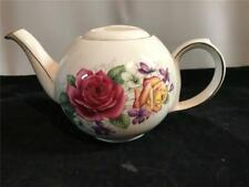 Sadler China Teapot Red & Yellow Roses & Violets