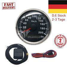 200KM/h 85mm GPS Antenna Speedometer Car Motor Speedo Waterproof Gauge DE DHL EU
