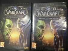 World of Warcraft: Battle for azeroth paper carton cover disc and box NO GAME
