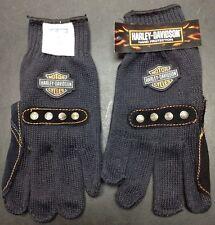 Harley Davidson Bacou-Dalloz Mens DuPont Kevlar Leather Palm Patch Gloves New