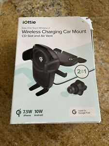 iOttie Easy One Touch Wireless 2 Air Vent/CD with 10W Qi Wireless Charging