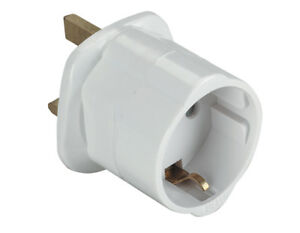 EU Euro Europe European to UK England English Travel Adaptor Plug *CE Approved*
