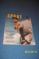 1950 Sport Magazine CLEVELAND INDIANS Bob LEMON No Label TED WILLIAMS N/Label