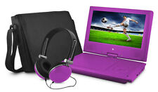 "Ematic EPD909PR Portable DVD Player - 9"" Display - 640 x 234 - Purple"