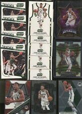 Lot of (22) Assorted 2017-20 Panini Select Threads Giannis Antetokounmpo