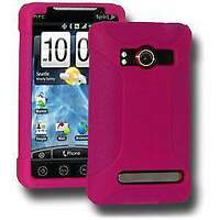 NEW AMZER HOT PINK PREMIUM SILICONE SOFT SKIN JELLY CASE COVER FOR HTC EVO 4G