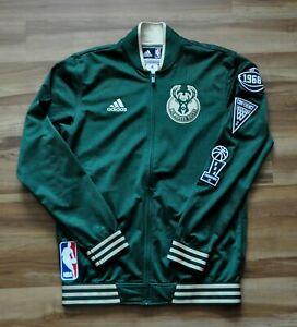 MILWAUKEE BUCKS Adidas Warmup NBA Jacket On-Court 15-16 GREEN Mens M GIANNIS