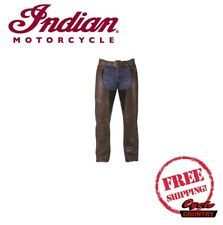 GENUINE INDIAN MOTORCYCLE MEN'S CHAPS LEATHER BROWN NEW SCOUT CHIEF ROADMASTER