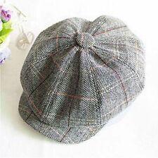 Beret Octagonal Cap Hats Artist Painter Newsboy Gatsby Beret Hats Caps Cotton UK
